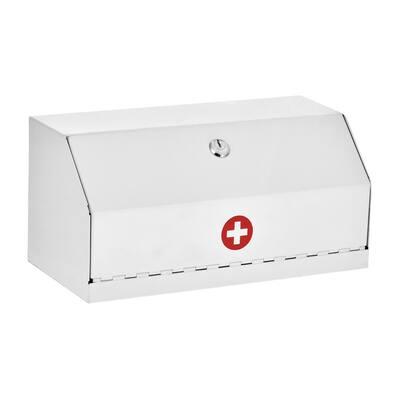 6 in. H x 12.5 in. W x 5.9 in. D Locking Steel Surface-Mount Medicine Cabinet