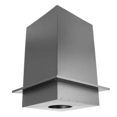 DuraPlus 6 in. x 18.25 in Square Ceiling Support Box and Trim Collar 24 in. Tall