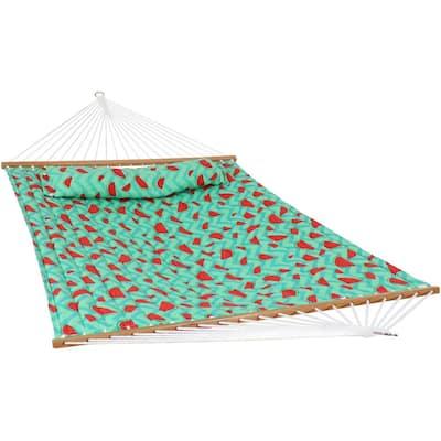 10.8 ft. Watermelon and Chevron Spreader Bar Hammock Bed
