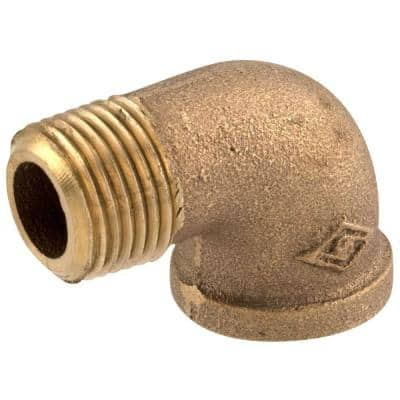 1/2 in. MIP x 1/2 in. FIP 90-Degree Red Brass Street Elbow Fitting