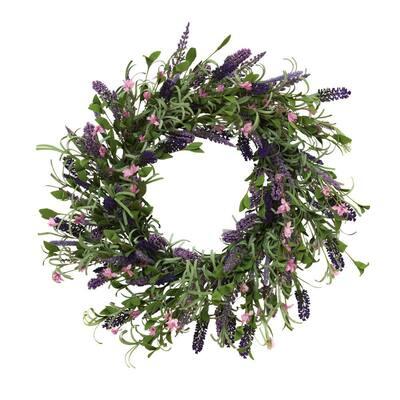 24 in. Dia Lavender Twig Wreath