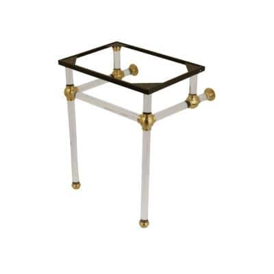 Templeton 24 in. Acrylic Console Sink Legs in Brushed Brass