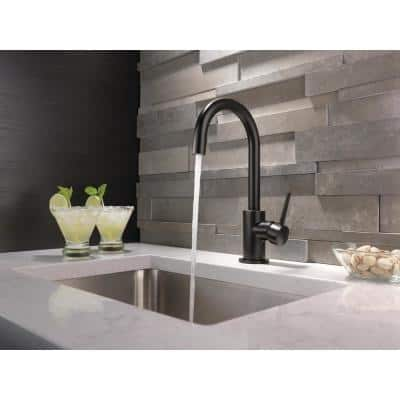 Contemporary Single-Handle Bar Faucet in Matte Black