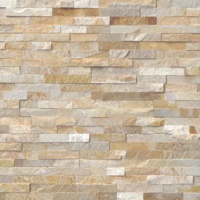 Sparkling Autumn Ledger Corner 6 in. x 6 in. x 6 in. Natural Quartzite Wall Tile (2 sq. ft. / case)