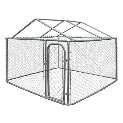6 ft. H x 13 ft. W x 7.5 ft. L Dog Kennel with Roof Frame