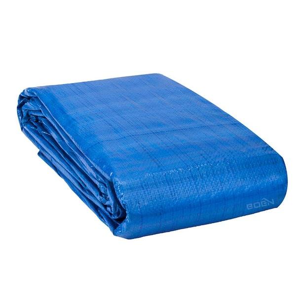 BOEN Heavy Duty Blue Poly Cover 20 ft. W x 40 ft. L Tarp Waterproof,  Tarpaulin-BT-2040 - The Home Depot