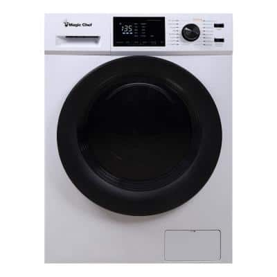 23.4 in. 2.7 cu. ft. White All in One Ventless and Washer Dryer Combo