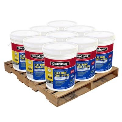 5 Gal. Flat Roof Coat-n-Seal Liquid Rubber Coating (9-Pallet)