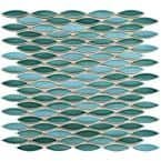Pescado Glossy Agua 12 in. x 12-1/2 in. Porcelain Mosaic