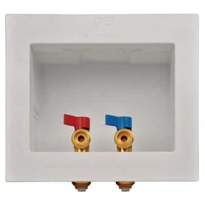 1/2 in. Push-to-Connect x 3/4 in. MHT Brass Washing Machine Outlet Box