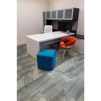 Tuscany Azul 12 in. x 24 in. Polished Porcelain Floor and Wall Tile (16 sq. ft./Case)
