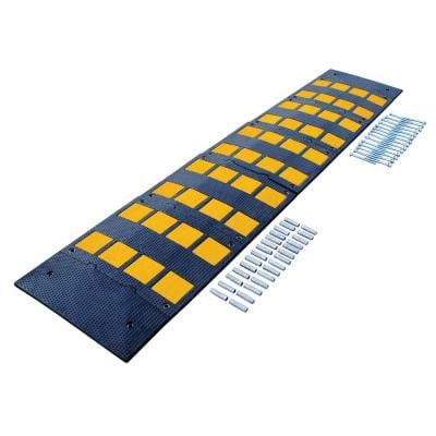 23.5 in. x 108 in. x 2 in. Deluxe Rubber Speed Hump with Concrete Kit