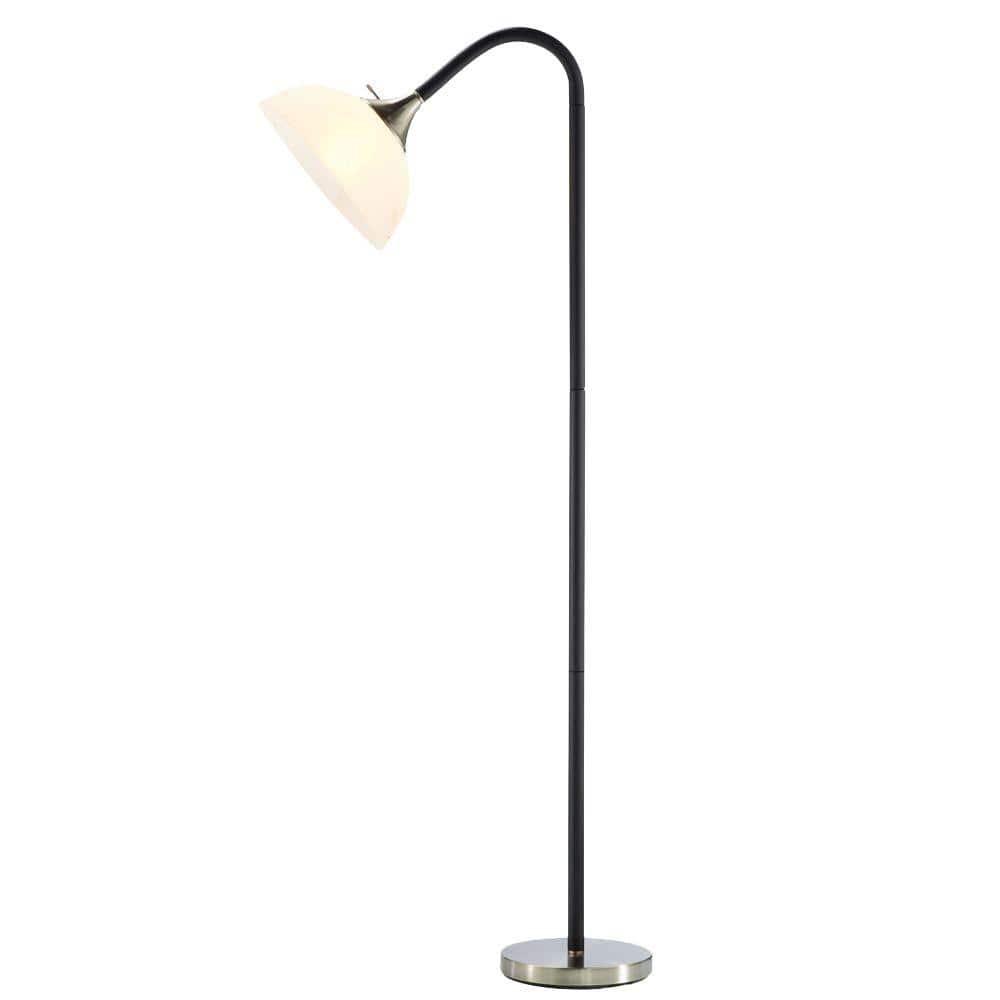 Adesso Gander 71 in. H Black Floor Lamp