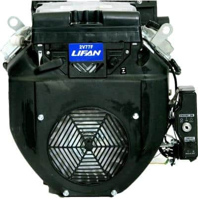 1-1/8 in. 24 HP V-Twin Electric Start Keyway Shaft Gas Engine with 24 Amp Charging System