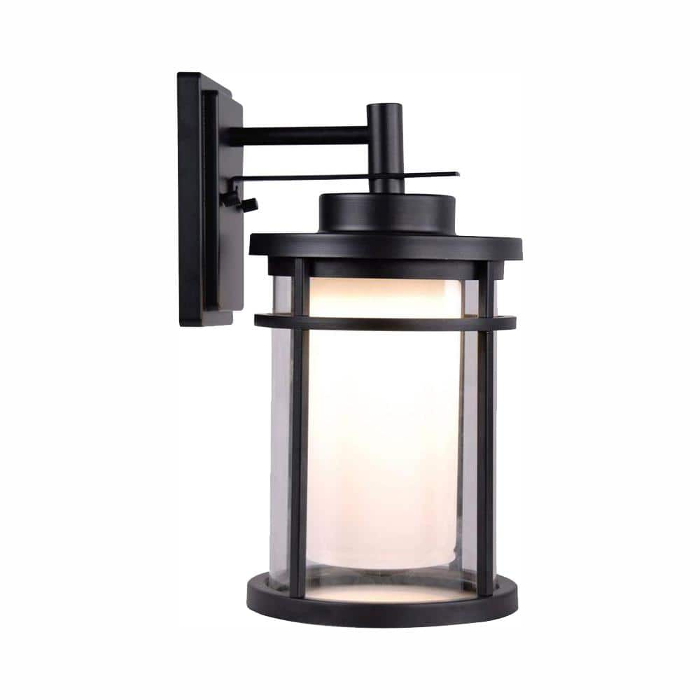 Home Decorators Collection Black Outdoor Led Wall Lantern Sconce Dw7178bk The Home Depot