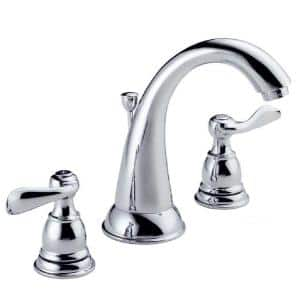 Windemere 8 in. Widespread 2-Handle Bathroom Faucet with Metal Drain Assembly in Chrome