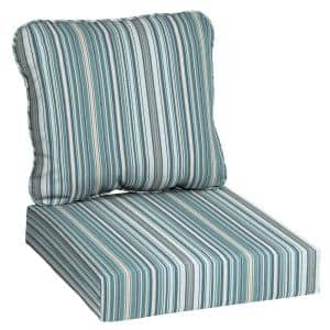 24 in. x 22 in. Charleston Stripe Deep Seating Outdoor Lounge Chair Cushion