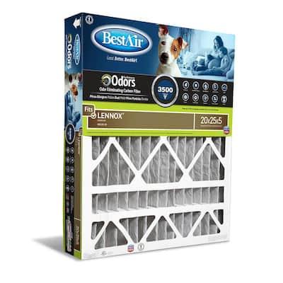 20 x 25 x 4 Lennox FPR 10 Carbon Air Cleaner Filter