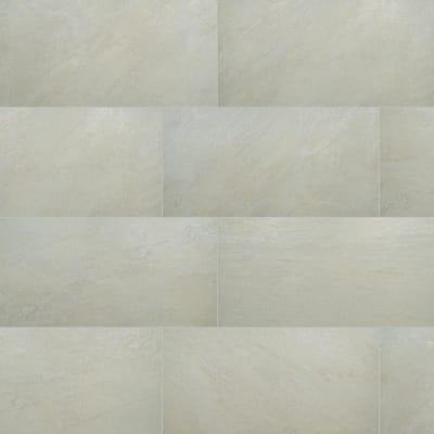 Take Home Tile Sample - Quartz White 6 in. x 6 in. Matte Porcelain Paver Tile (0.25 sq. ft.)