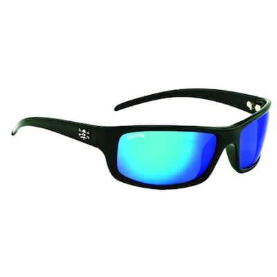 Black Frame Prowler Sunglasses with Blue Mirror Lenses