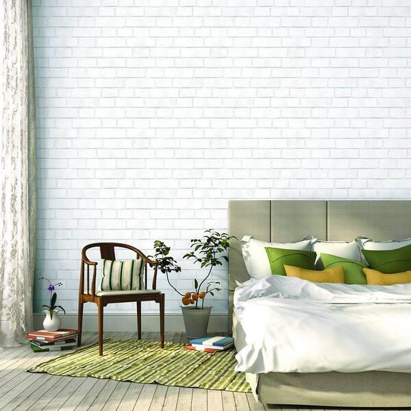 Tempaper Brick Vinyl Peelable Wallpaper Covers 56 Sq Ft Br096 The Home Depot