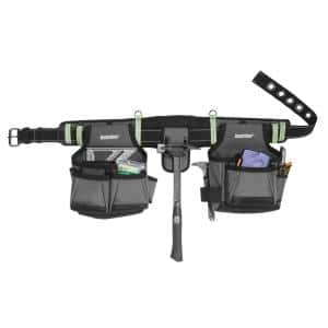 2-Bag Adjustable High Visibility Contractor's Work Tool Belt