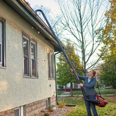 Universal Gutter Cleaning Kit with 11 ft. Reach for Handheld Leaf Blowers Includes Shoulder Strap