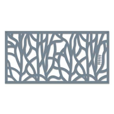 Willow 48 in. x 24 in. Twilight Polypropylene Multi-Purpose Decorative Panel