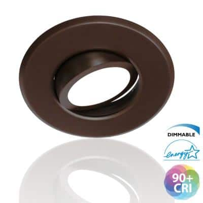 5/6 in. 2700K Oil Rubbed Bronze Integrated LED Recessed Gimbal Trim