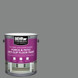 1 Gal. #PFC-63 Slate Gray Textured Low-Lustre Enamel Interior/Exterior Anti-Slip Porch and Patio Floor Paint