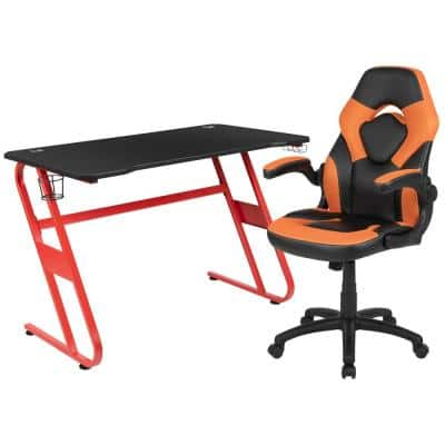 51.5 in. Red Gaming Desk and Chair Set