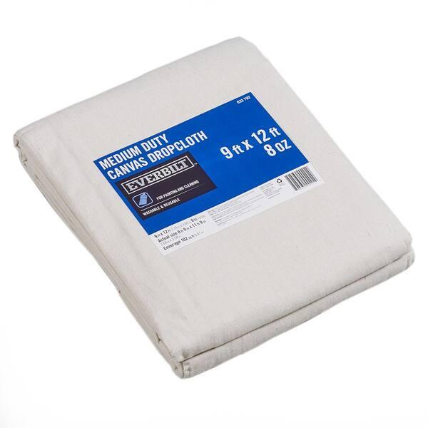 Everbilt 9 Ft x 12 Ft Medium Duty Canvas Drop Cloth