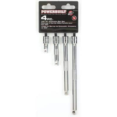 3/8 in. Drive Extension Bar Set (4-Piece)