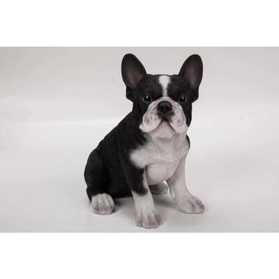 Black French Bulldog Puppy Statue