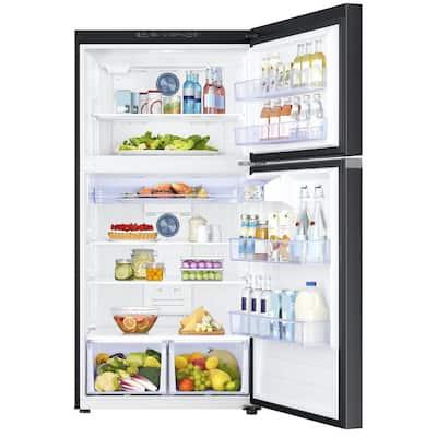 21.1 cu. ft. Top Freezer Refrigerator with FlexZone in Fingerprint Resistant Black Stainless, Energy Star