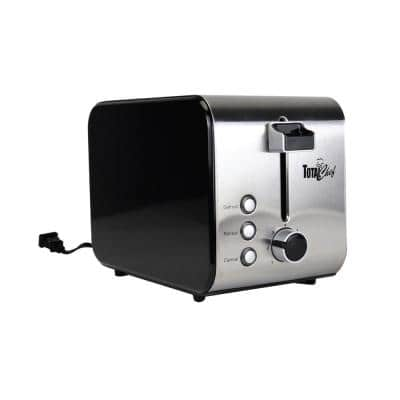 2-Slice Stainless Steel Toaster with Adjustable Browning Controls