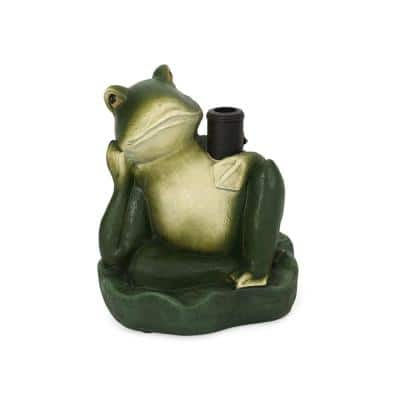 Fenimore Frog 55.95 lbs. Concrete Patio Umbrella Base in Green