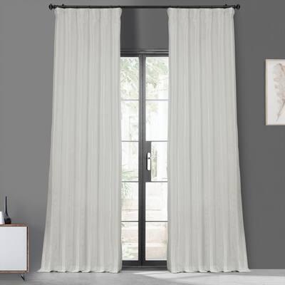 Eggshell Faux Silk Rod Pocket Blackout Curtain - 50 in. W x 120 in. L
