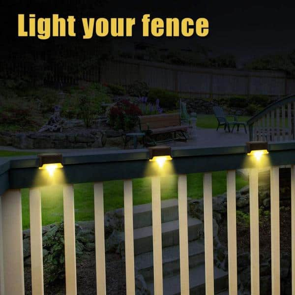 Gigalumi Solar Bronze Integrated Led 3 5 In X 1 8 In Deck Post Light 12 Pack S L Xq The Home Depot
