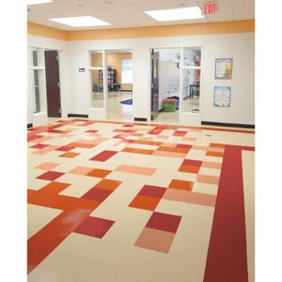 Imperial Texture VCT 12 in. x 12 in. Maraschino Standard Excelon Commercial Vinyl Tile (45 sq. ft. / case)