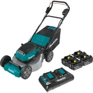 21 in. 18-Volt X2 (36-Volt) LXT Lithium-Ion Cordless Walk Behind Push Lawn Mower Kit with 4 Batteries (5.0 Ah)