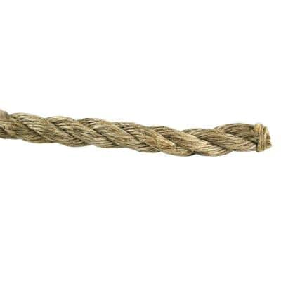 5/8 in. x 200 ft. Manila Twist Rope, Natural