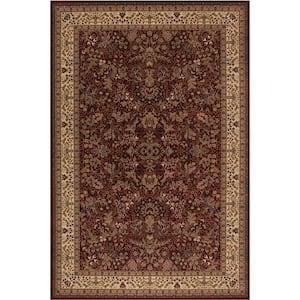Persian Classics Sarouk Red 5 ft. x 8 ft. Area Rug