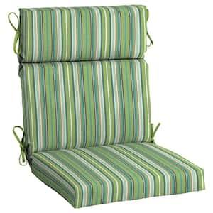 21.5 x 44 Sunbrella Foster Surfside High Back Outdoor Dining Chair Cushion