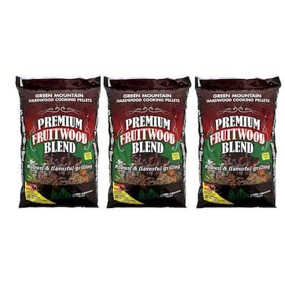 Premium Fruitwood Pure Hardwood Grilling Pellets (3-Pack)