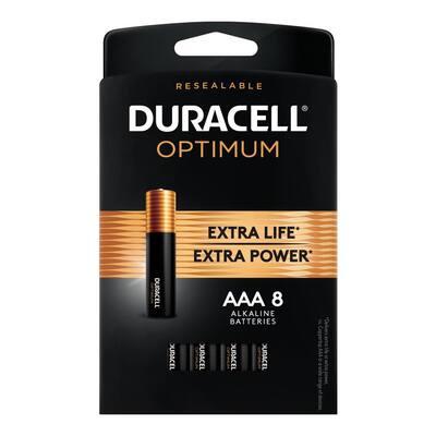 Optimum AAA Alkaline Battery (8-Pack)