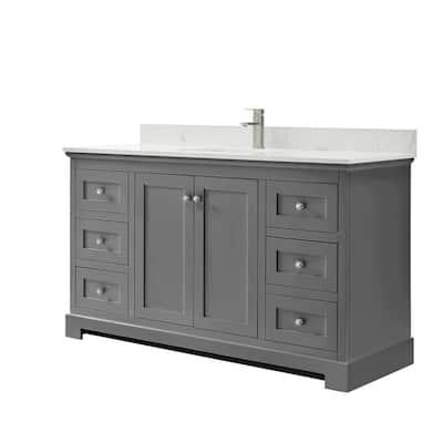 60 Inch Vanities Single Sink Bathroom Vanities With Tops Bathroom Vanities The Home Depot