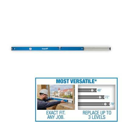 48 in. to 78 in. True Blue Extendable Box Level