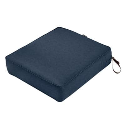Montlake 23 in. W x 25 in. D x 5 in. Thick Heather Indigo Blue Outdoor Lounge Chair Cushion