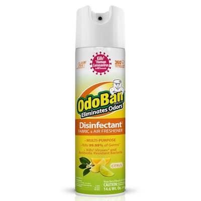 14.6 oz. Citrus Disinfectant Spray, Odor Eliminator, Sanitizer, Fabric and Air Freshener, Multi-Purpose Cleaner